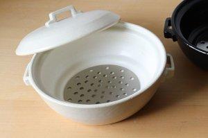 画像1: スタイル土鍋IH対応 白